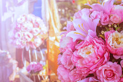 Flowers that decorate the wedding. Royalty Free Stock Photography