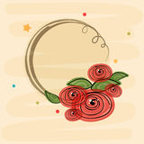 Flowers decorated frame with space. Stock Photos