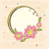 Flowers decorated frame with space. Stock Image