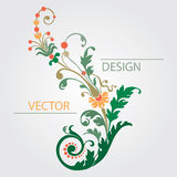 Flowers decoration with colorful plant leaves Stock Photos