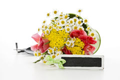 Flowers with decoration Royalty Free Stock Photo