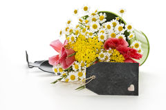 Flowers with decoration Stock Image