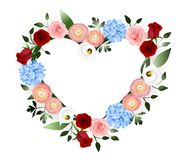 Flowers decoration heart royalty free illustration