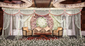 Flowers Decoration on the stage Royalty Free Stock Photography