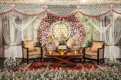 Flowers Decoration on the stage Stock Images