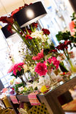 Flowers in the decoration stor. Interior of a store of complements for the home Stock Image