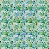 Flowers  -  decorative composition. Watercolor. Seamless pattern. Use printed materials, signs, items, websites, maps, posters, po Stock Image