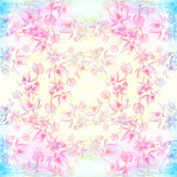 Flowers  -  decorative composition. Watercolor. Seamless pattern. Use printed materials, signs, items, websites, maps, posters, po Royalty Free Stock Images