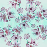Flowers  -  decorative composition. Watercolor. Seamless pattern. Use printed materials, signs, items, websites, maps, posters, po Royalty Free Stock Photo