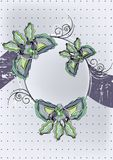 Flowers decorative design Stock Image