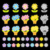 Flowers decorative Icons sets. Creative Icon Design Series. Royalty Free Stock Photo