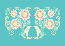 Flowers in decorative style Stock Image