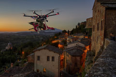 Flowers delivery Drone 2 Stock Image