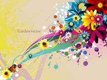 Flowers design illustration Stock Photography