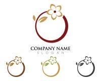 Flowers design logo icon. Beauty Vector Lotus flowers design logo Template icon Stock Photos