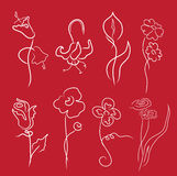 Flowers Design Set Royalty Free Stock Photography