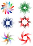 Flowers design set Stock Image