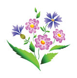 Flowers design. Vector. Royalty Free Stock Images