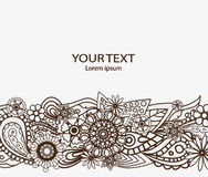 Flowers Design Vector Element with Text Place for invitations and cards. Flowers Design Vector Element with Text Place Royalty Free Stock Photo