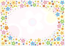 Flowers designed card Royalty Free Stock Photo