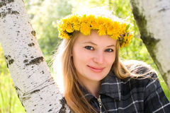 Flowers in diadem Royalty Free Stock Photos