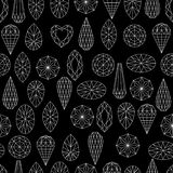 Flowers from diamond design elements Stock Photo