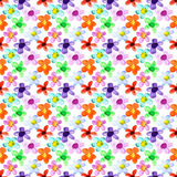 Flowers of different colors seamless Royalty Free Stock Image