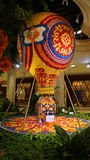 The flowers display at the Wynn in Las Vegas Royalty Free Stock Image