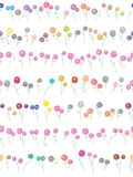 Flowers Divider Seamless Pattern_eps. Illustration of 7 rows colorful and pink color flowers divider and seamless pattern on white background. --- This .eps file Stock Illustration