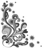 Flowers doodle background  Stock Photo