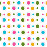 Flowers and dots seamless pattern Royalty Free Stock Image