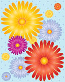 Flowers with dotty background Stock Images
