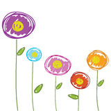 Flowers drawing hand drawn for background vector Royalty Free Stock Photography