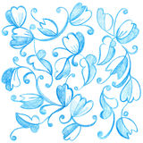 Flowers drawing Royalty Free Stock Photography