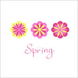 Flowers drawn vector. Bright floral print for shirts. Flower. Spring. Bright colors. Print Clothing Stock Photo