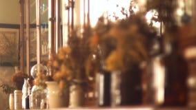 Flowers dried vase stock video
