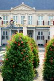 Flowers for the dutch Noordeinde Palace, the Hague Royalty Free Stock Images