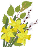Flowers Easter Background Royalty Free Stock Photo