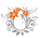 Flowers and easter egg Stock Images
