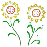 Flowers for Easter eggs Royalty Free Stock Photo