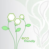 Flowers eco-friendly. Illustration showing environmentally friendly technologies. vector graphics Stock Image