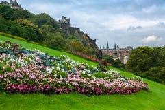 Flowers of Edinburgh castle, Scotland Stock Photo