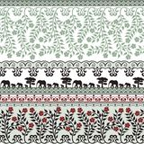 Flowers and elephants in green Stock Photos
