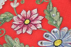 Flowers embroidery Royalty Free Stock Photos