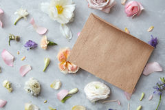 Flowers in envelope Stock Photography