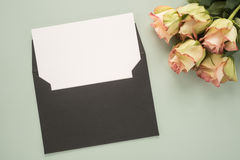 Flowers and envelope Royalty Free Stock Photo