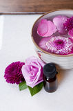 Flowers essence spa Royalty Free Stock Image