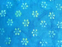 Flowers on fabric Stock Image