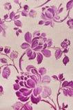 Flowers on fabric Stock Photos