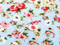 Flowers fabric Stock Photography